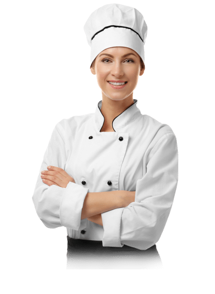 Girl Chef in White Cloth