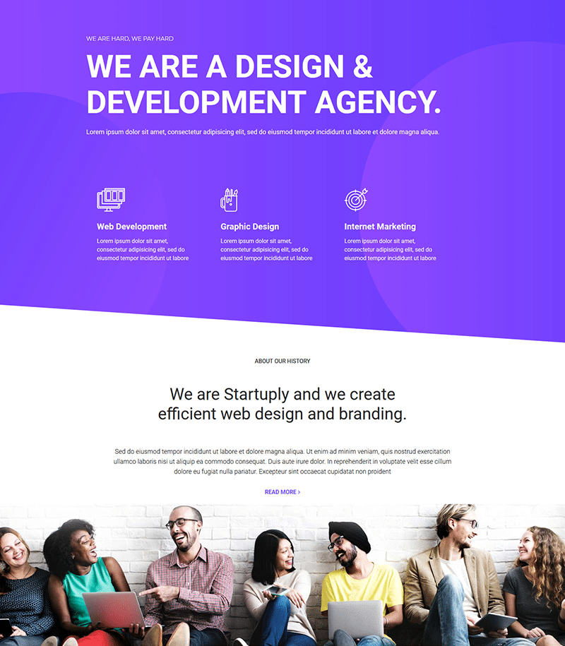 Development Agency Landing Page Template - Layouts for Elementor