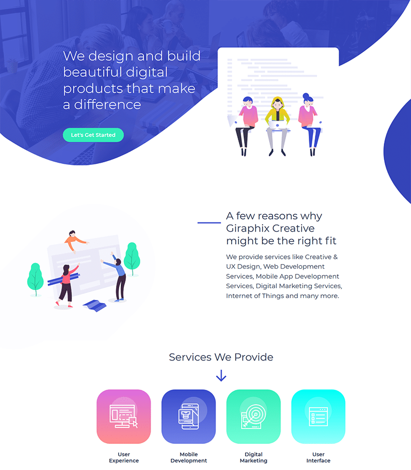 Web Agency Landing Page Template - Layouts for Elementor