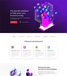 Marketing Landing Page Template - Layouts for Elementor